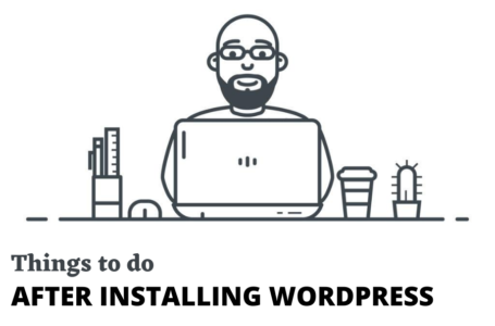 after new installing wordpress