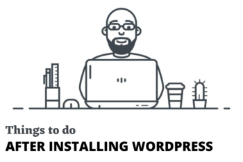 after new installing wordpress