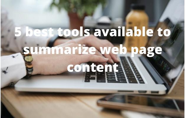 text summarizer tools